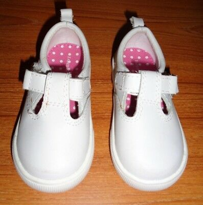 Faded Glory Girls Size 5 Toddler Shoes White