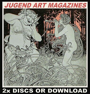 JUGEND VINTAGE ART NOUVEAU MAGAZINES 572 Scanned Issues, 2x DISCS or DOWNLOAD