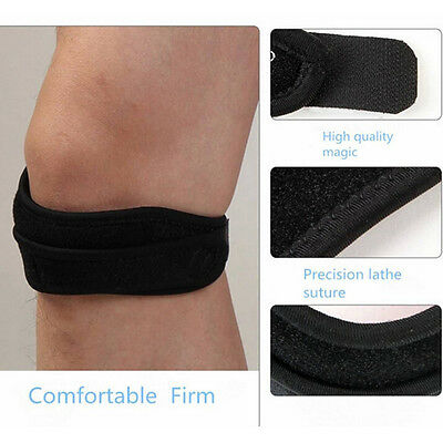 Adjustable Sport Gym Patella Tendon Knee Support Strap Brace Pad Band Protector+