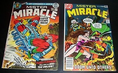 Lot of 2: Mister Miracle # 6 VF, # 25 VFNM, 1972 Bag & Board