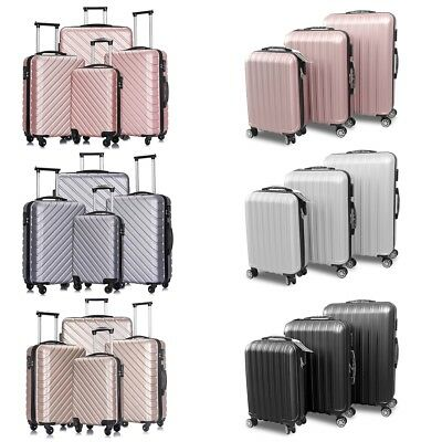 3/4 PCS Luggage Set Travel Bag Carry On Trolley ABS Spinner Business Suitcase