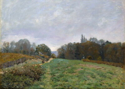 Alfred Sisley Landscape At Louveciennes Giclee Paper Print Poster Reproduction