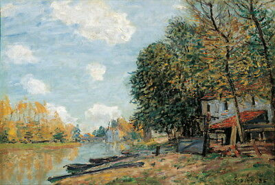 Alfred Sisley Moret The Banks Of The River Loing Giclee Paper Print Poster