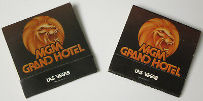 Lot of 2  Vintage 1980's MGM GRAND Hotel and Casino LAS VEGAS Nevada Matchbooks