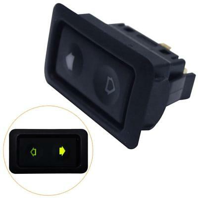Electric Power Window Switch Button With Green Light - Universal 6Pin 12-24V Car