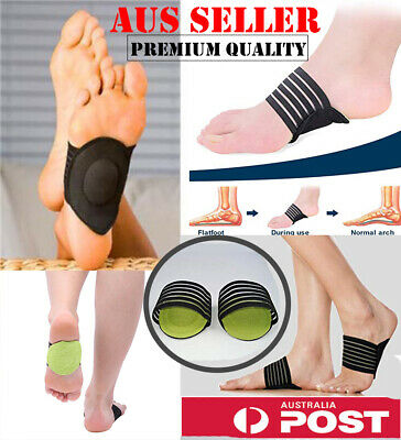 Sport Cushioned Arch Foot Support Brace Decrease Plantar Fasciitis Pain AUS SLR