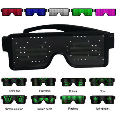 Led Flash Character Luminous Glasses Glow Night Club Concert Party Fancy Costume