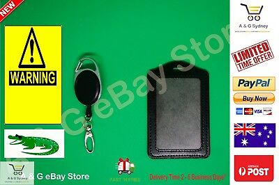 Blank Steel Line ID Badge Oval Hook Retractable Lanyard Holder Business Pass