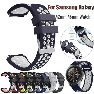 Replacement Silicone Wrist Strap Watch Band For Samsung Galaxy Watch 42mm 46mm