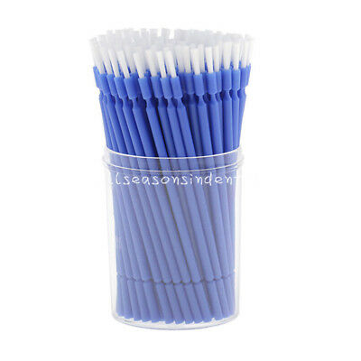 100 Pcs Dental Disposable Tooth Applicator Long Micro Brush Composite Materials