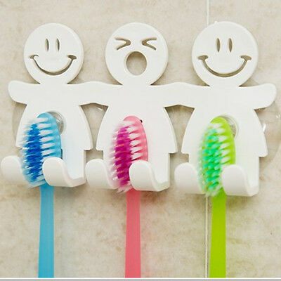 Toothbrush Towel Holder Wall Monted Bathroom Hanging Suction Cup Stand Hook Set