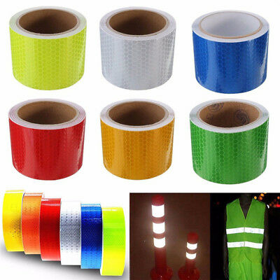 Safety Caution Reflective Tape Warning Tape Sticker Self Adhesive=Tape 5cm x 1HK