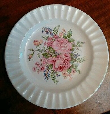 Vintage China Plate with Pink Roses