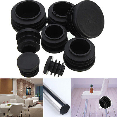 Plastic Blanking End Cap Insert Plug Bung For Round Pipe Tube LS