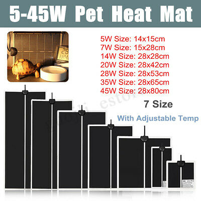 5-45W Pet Adjustable Heat Pads Reptile Heating Mat Climbing Warm Temp Controller