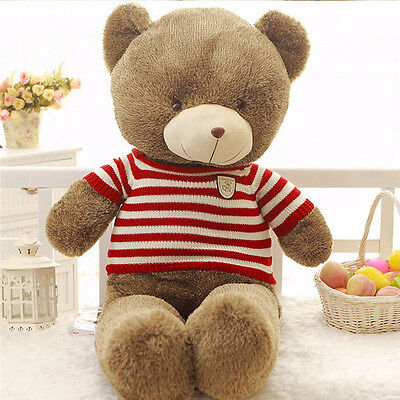 Lovely Huge Big Red Sweater Teddy Bear Large Stuffed Plush Dolls Toy 60Cm Gift