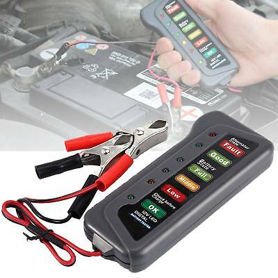Digital 6-LED Indicators Digital 12V Battery Alternatr Tester For Car Motorbike