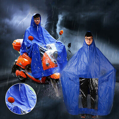 Waterproof Raincoat PVC Rain Coat Mobility Scooter Motorcycle Hooded Cape Poncho