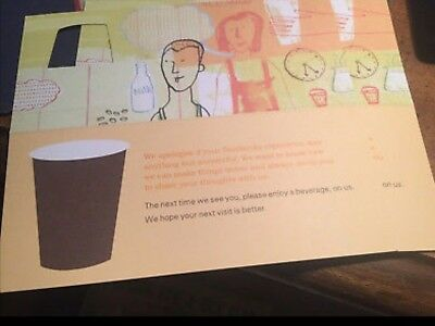 25 starbucks recovery drink card voucher free any size drink gift no