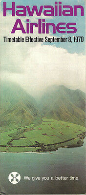 Hawaiian Airlines system timetable 9/8/70 [5122]