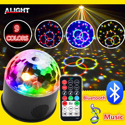 New Disco Party DJ 9 LED RGB Stage Effect Light Lamp Laser Crystal Magic Ball AU