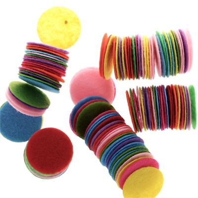 100 PCS Round Felt Fabric Pads Accessory Patches Circle Fabric for flower/hat