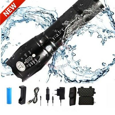 G900 Tactical Military Flashlight 5 Mode LED Zoom Focus Camping Waterproof Lamp