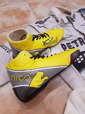 8772dd56893 NICO ROSBERG USED and Signed Race Boots - Mercedes GP F1 - EUR 750 ...