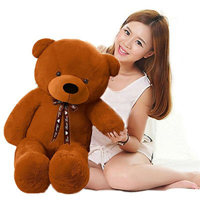 80cm Dark brown Huge Teddy cute Bear Stuffed Big Doll Plush Toy Gift Soft Cotton
