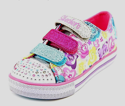 Skechers Older Girls UK 2 Twinkle Toes Chit Chat Glamour Galore Trainers10620L