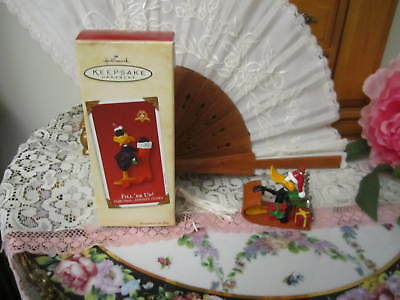 Daffy Duck 2002 Hallmark ornament Fill'er Up Stocking And Key Chain