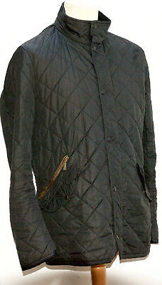 Men's Barbour Chelsea Sportsquilt Jacket Medium Black