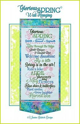 GLORIOUS SPRING WALL HANGING MACHINE EMBROIDERY CD, Janine Babich Designs NEW