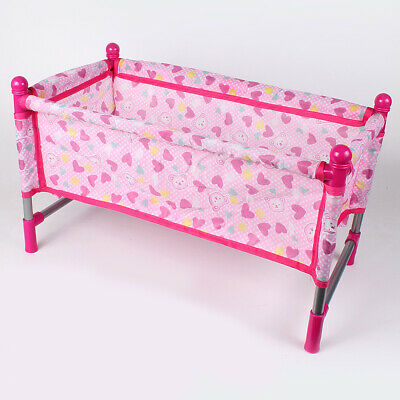 Kids Play House Toy - Simulation Furniture Playset Baby Infant Doll Crib Bed