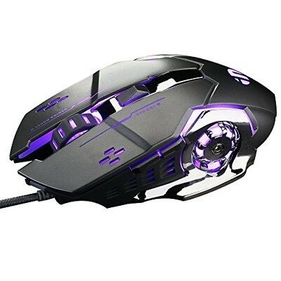 NEW inphic PC Gaming Mouse USB Wired 6 Programmable Buttons Game Mice
