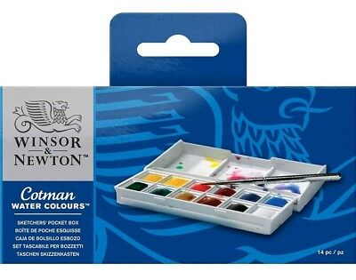 Winsor newton cotman Watercolor  Acquarelli Set 14 Pz