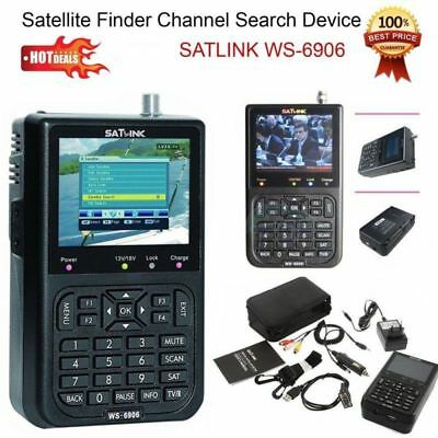 "SATlink WS 6906 DVB S FTA Data Satellite Testeur Digital Finder Meter 3.5"" Inch"