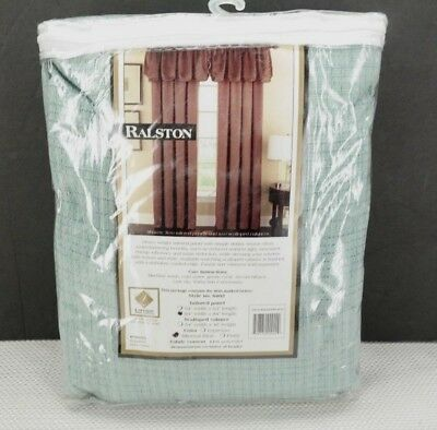 "Lorraine Home Fashions Ralston Tailored Curtain Panel 54"" x 84"" Mineral Blue  T3"