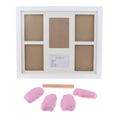 Personalized Baby Hand Print & Footprint Photo Frame Kit Ink Pad- Pink