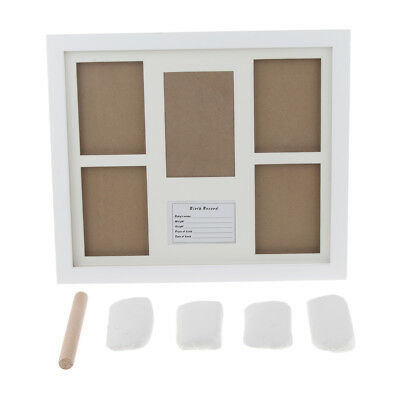 Personalized Baby Hand Print & Footprint Photo Frame Kit Ink Pad- White