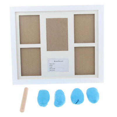 Personalized Baby Hand Print & Footprint Photo Frame Kit Ink Pad- Blue