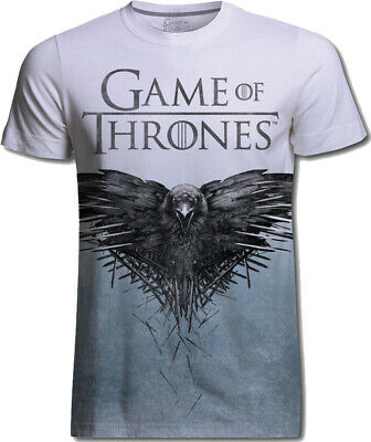 Game of Thrones Crow Sublimation Raven Official Tee T-Shirt Mens Unisex