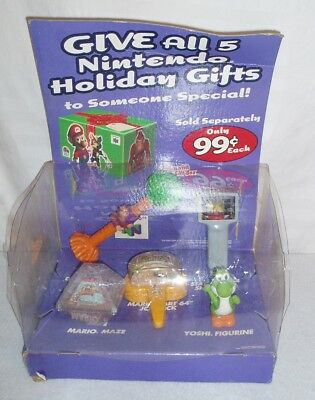 Taco Bell Nintendo N64 Holiday Counter Display WITH TOYS (1997) RARE Mario