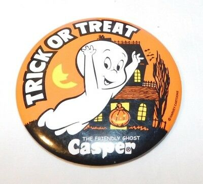 RARE old Casper the Friendly Ghost Trick or Treat Halloween Pinback Pin