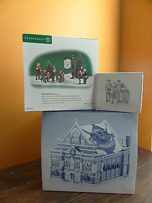 Dept 56 Ryman Auditorium Grand Ole Opry Caroler Quintet Christmas Accessory Lot