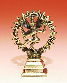 "Dancing Shiva/Natraj/Nataraj, 2.75"" White Metal Statue, Made In India"