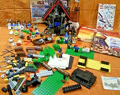 Lego 1993 System Konvolut Piraten Castle Ritter 7 Set s mit 20 Figuren Top
