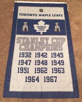 NEW Toronto Maple Leafs Stanley Cup Champions NHL Dorm 3x5 Flag Banner US Seller