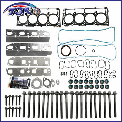 Head Gasket Set+Bolts For 09-15 Chrysler Dodge Jeep Ram 5.7L HEMI OHV MLS VIN T