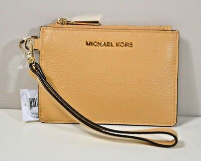 bb057143aa45 Nwt Michael Kors Money Pieces Butternut Leather Sm Coin Purse Wristlet  Wallet